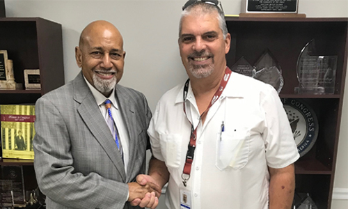 (Rep. Alcee Hastings (D-FL) and Richard Friedman of Complex Rehab Solutions)